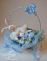 """Подарунок новонародженому Букет з речей """"Зайка моя"""", фото 1"""