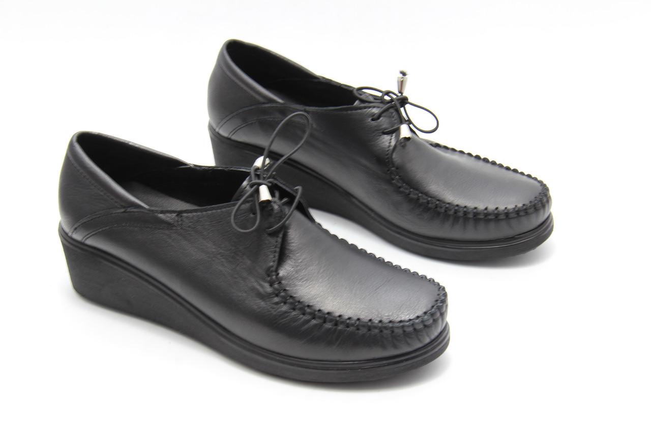 Туфли женские на шнурках Aras Shoes 107-siyah