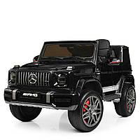 Детский электромобиль Джип 4180 EBLRS-2, Mercedes-Benz G63, колеса EVA, эко-кожа, музыка, свет, черный лак