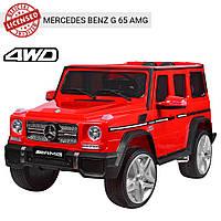 Детский электромобиль Джип M 3567 EBLR-3 (4WD), Mercedes G65 VIP, красный