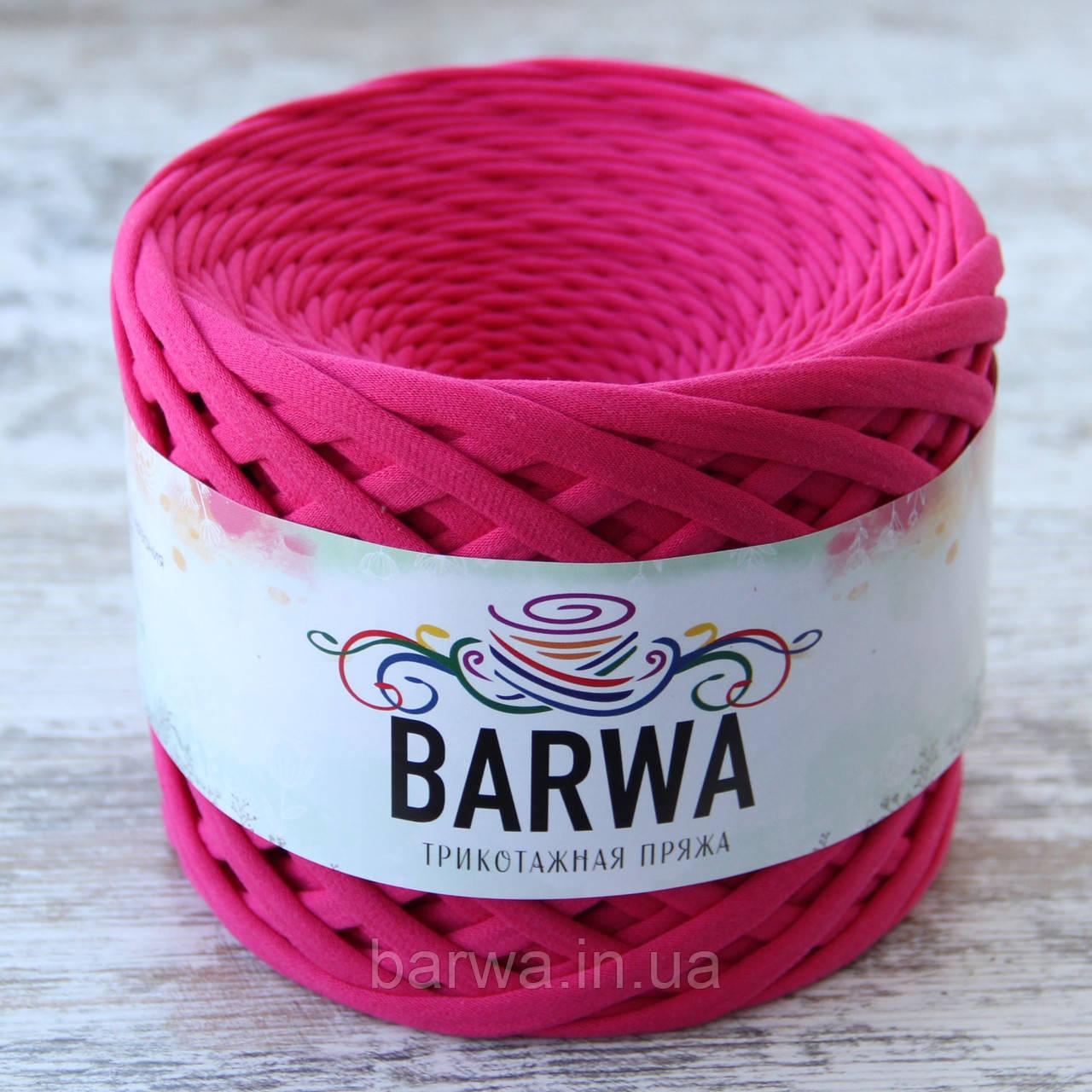 Трикотажная пряжа BARWA standart 7-9 мм, цвет Малина