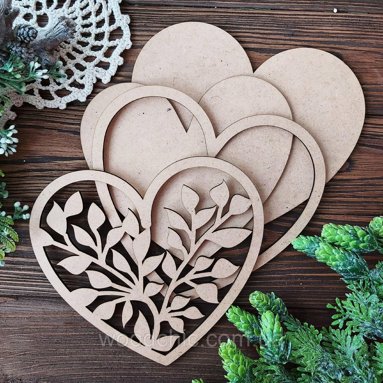Заготовка  набор Сердце с ветками