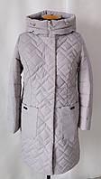 Куртка женская осень-весна  большого размера  50-60 бежевый