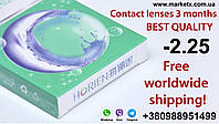 -2.25 diopters Horien contact lenses for 3 months in Taiwan. Better than Air Optix Aqua