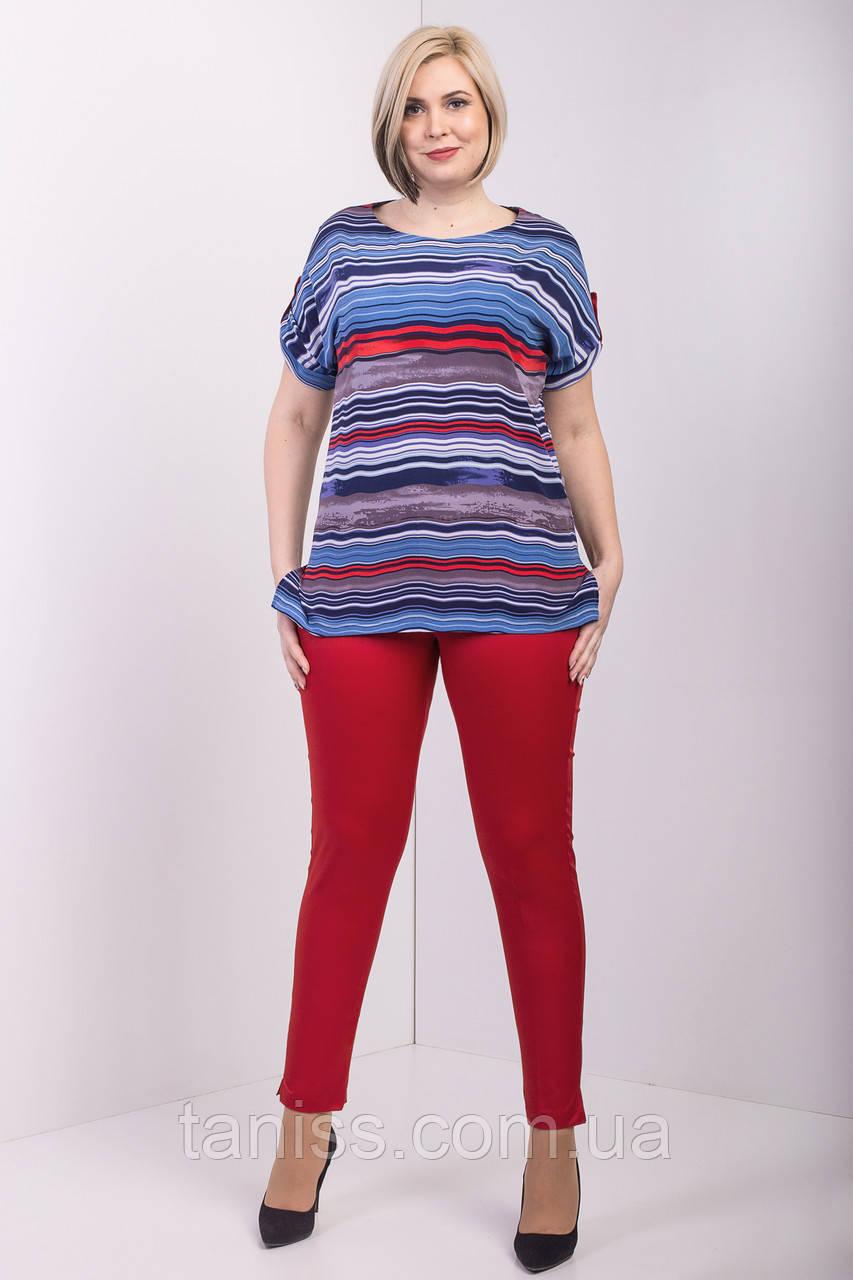 """Повсякденний,прогулянковий костюм """"Джоді"""", тканина віскоза,костюмка,розміри 50,54,56 червоний костюм"""