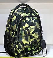 Рюкзак школьный ортопедический спортивный городской стильный Dolly 528 зеленый камуфляж 30х39х21см