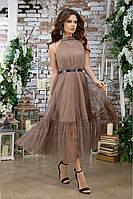 Стильное женское платье из шелка 44,46,48