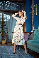Стильное легкое шелковое платье с рюшами, фото 1