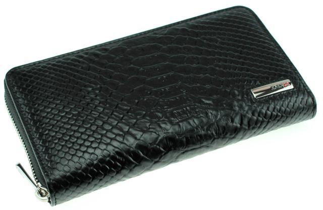 Кожаный женский кошелек на молнии Eminsa 2069-21-1 черный
