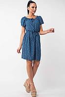 Легкое свободное летнее платье с цветочным принтом из натуральной летней ткани штапеля, 42-52 размеры