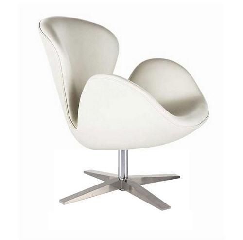 Кресло СВ, экокожа, основание металл, цвет белый