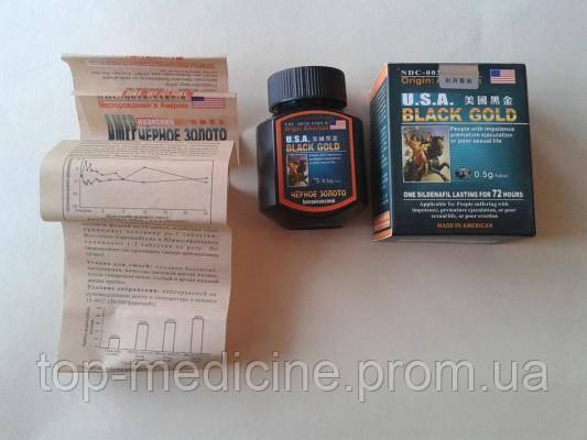 Черное золото - препарат для потенции 16 капул в упаковке.