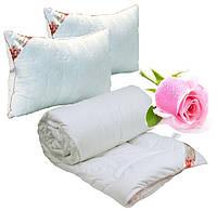Одеяло Евро с Подушками 200х220 волокно Розы 250г/м2 Руно (322.52Rose)