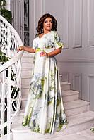 Длинное шелковое женское платье