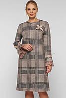 Красивое  женское платье большого размера в клетку,  размер 50-58