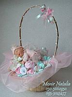 """Букет из вещей новорожденной девочке """"Дивный сон"""", фото 1"""