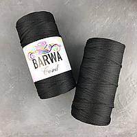 Шнур полиэфирный 5мм без сердечника . цвет Черный