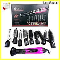 Фен стайлер для укладки волос 10в1 Gemei GM4835 + Подарок!