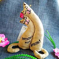 Ароматизированная мягкая игрушка-статуэтка  Котики Неразлучники ручной работы с ароматом кофе, ванили и корицы