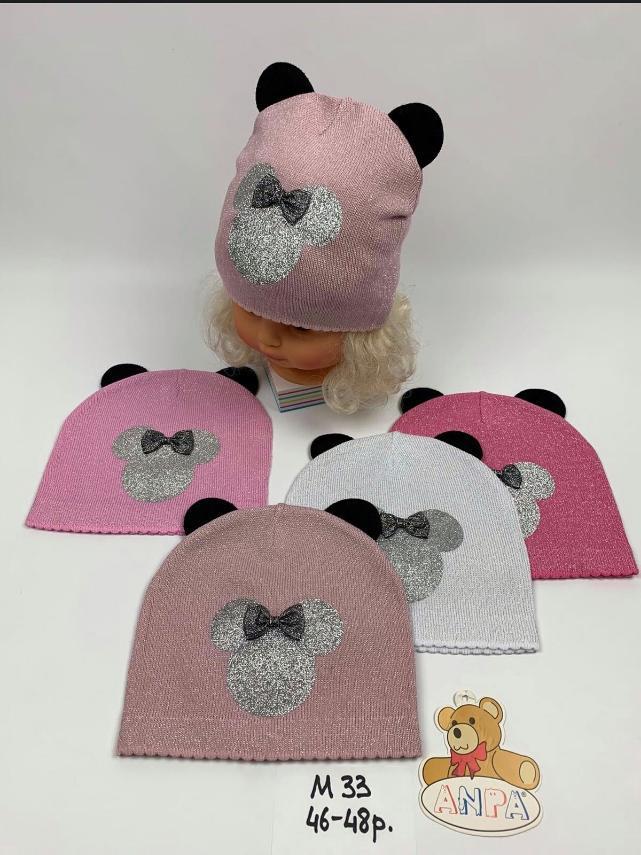 Детская шапка для девочки Микки р.46-48 опт