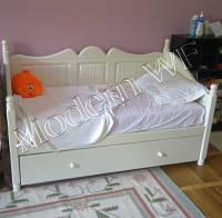 """Підліткове ліжко """"Аліса"""" з натурального дерева"""