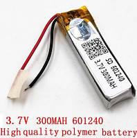 Батарея 300mah 3.7V 601240 Литий-Полимер Аккумулятор для Bluetooth Гарнитуры