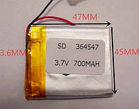 Батарея 364547 700mAh 3.7V Литий-Полимер Аккумулятор GPS Навигатор MP3 Плеер Видео Регистратор