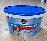 Фасадная дисперсионная  краска для внешних и внутренних работ Fassadenfarbe F 90 Dufa (10 л)