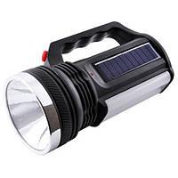 Фонарик аккумуляторный с солнечной панелью Yajia YJ2836T #S/O