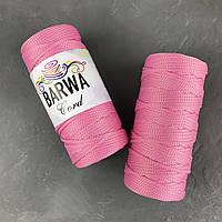 Шнур полиэфирный 5мм без сердечника . цвет Розовый