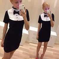 """Платье бело - черное """"Адель - мп45"""" 48"""