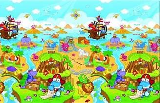 Развивающий коврик Dino Adventure (1900х1300) Dwinguler