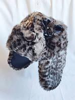 Шапка детская меховая ушанка пушистая Debenhams (размер 1-2 года)