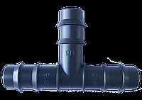 Тройник для капельной трубки Evci Plastik 16 мм, в упаковке 100 шт.