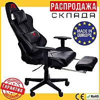 Кресло Геймерское с Подножкой (Польша) ARAGON Черное