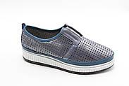 Шкіряні мокасини Туреччина Aras Shoes K6L-14477-BLUE, фото 3