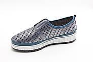 Шкіряні мокасини Туреччина Aras Shoes K6L-14477-BLUE, фото 4