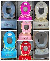 Комплект подставка накладка детские для унитаза увывальника, набор ступенька и вставка, Iprak Plastik, Турция
