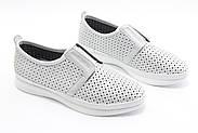 Стильні білі мокасини Aras Shoes K6L-14222-WHITE, фото 3