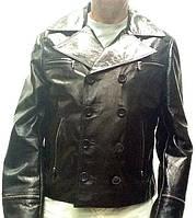 Куртка мужская короткая двубортная демисезонная кожа натуральная