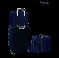 Дорожня сумка для ручної поклажі Coverbag синя 40*30*20 см Wizzair