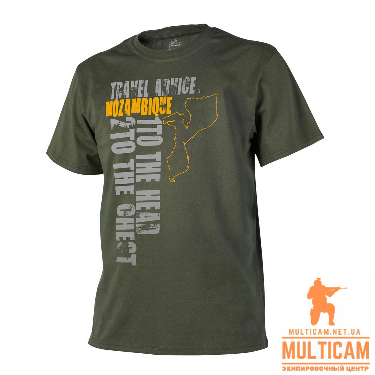 Футболка Helikon-Tex® T-Shirt (Travel Advice: Mozambique) - Cotton - Olive Green