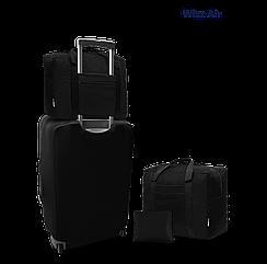 Дорожня сумка для ручної поклажі Coverbag чорна 40*30*20 см Wizzair