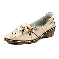 Туфли женские Allshoes 77299 бежевая кожа (36)
