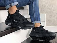 Мужские кроссовки в стиле Nike Huarache Fragment Design, сетка, нубук, пена, черные 43 (27,5 см)