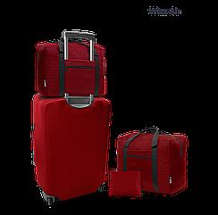 Дорожня сумка для ручної поклажі Coverbag бордо 40*30*20 см Wizzair