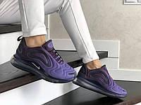 Женские кроссовки в стиле Nike Air Max 720, текстиль, воздушная подушка, фиолетовые 36 (23 см)