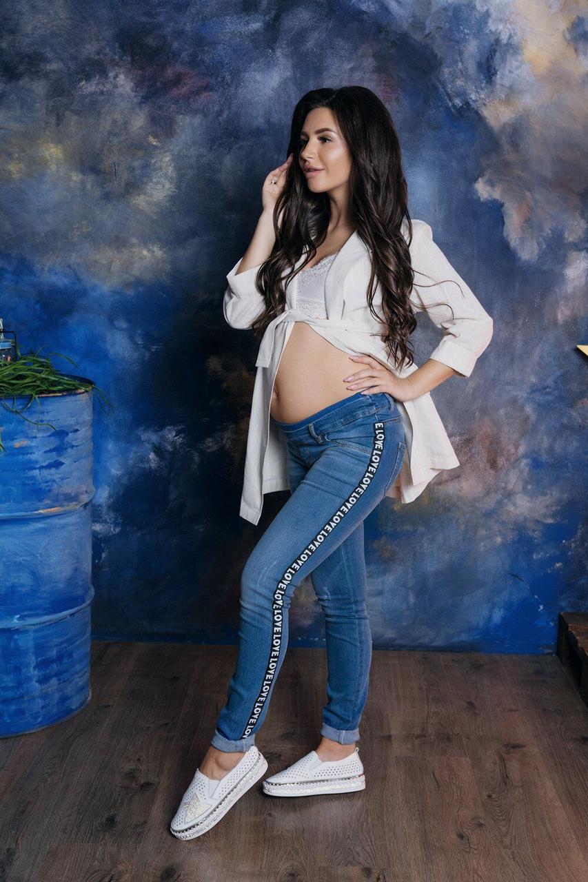 Джинсы для беременных с яркими лампасами To Be (42-50) 4044426-11