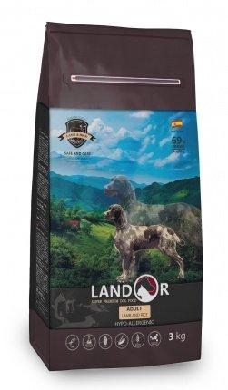 Landor Adult Dog Lamb & Rice сухой корм для взрослых собак всех пород с ягненком, 1 кг