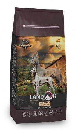 Landor Adult Large Breed сухой корм для взрослых собак крупных пород, 3 кг